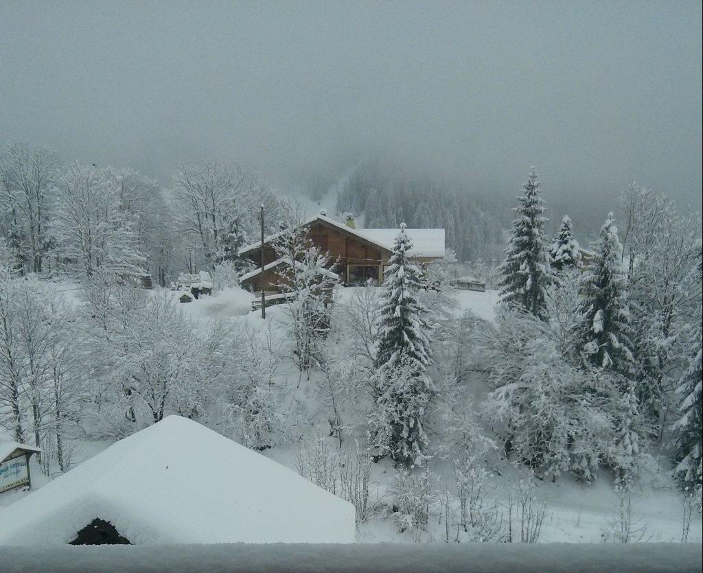Fresh snow in La Clusaz