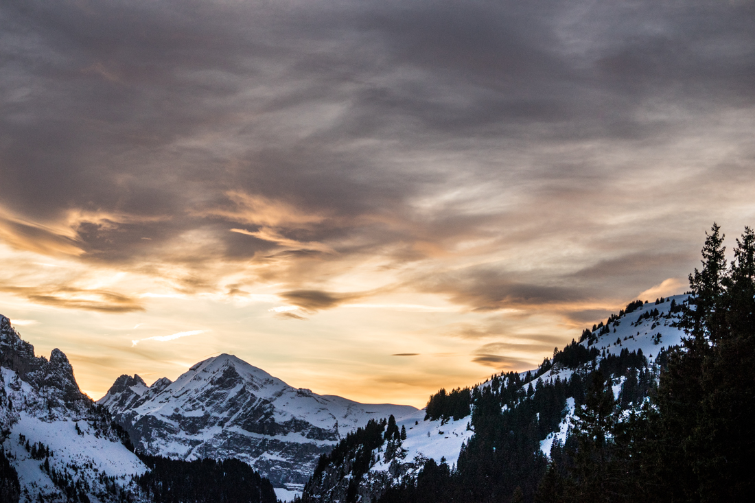 Flaine sunset
